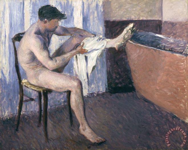 man_drying_his_leg