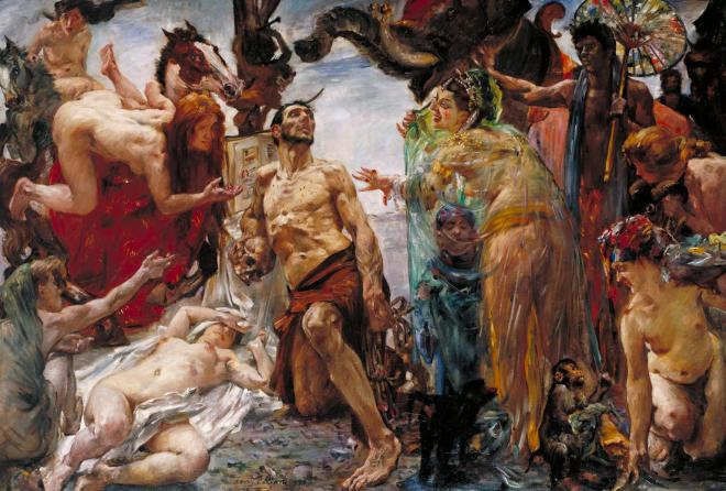 The Temptation of St Anthony after Gustave Flaubert 1908 by Lovis Corinth 1858-1925